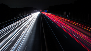 Picture of traffic at night